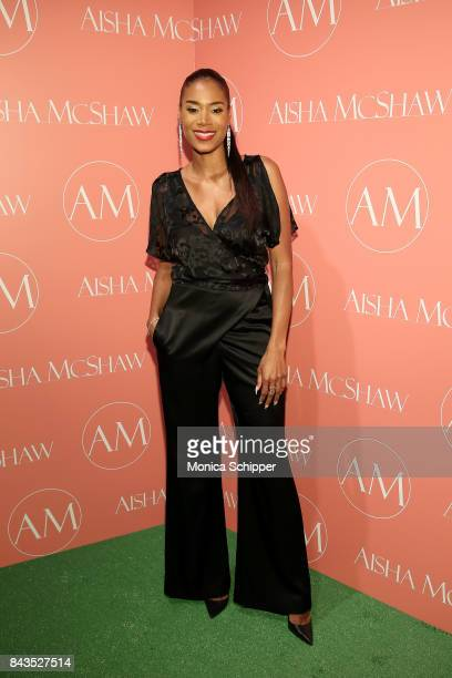 Designer Aisha McShaw attends the Aisha McShaw Women's Ready to Wear Spring/Summer '18 Collection fashion show at Prince George Ballroom on September...