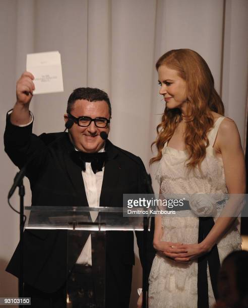 Designer Alber Elbaz and actress Nicole Kidman attend The CFDA/Vogue Fashion Fund Awards at Skylight Studio on November 16, 2009 in New York City.