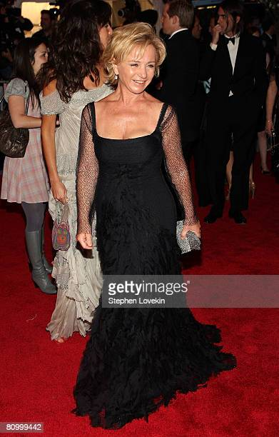 Designer Alberta Ferretti arrives at the Metropolitan Museum of Art Costume Institute Gala Superheroes Fashion and Fantasy held at the Metropolitan...
