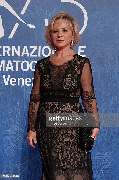 Designer Alberta Ferretti arrives for the premiere of the movie 'Franca Chaos and Creation' presented out of competition at the 73rd Venice Film...