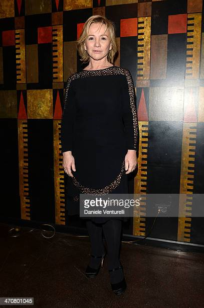 Designer Alberta Ferretti attends Moschino Dinner during the Milan Fashion Week Womenswear Autumn/Winter 2014 at Giacomo Arengario Restaurant on...