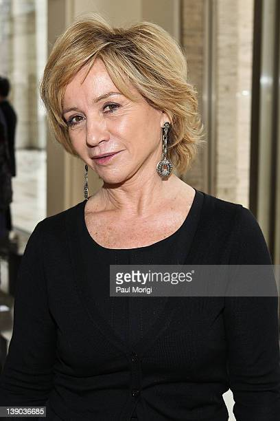 Designer Alberta Ferretti pose for a photo at the Philosophy Di Alberta Ferretti fall 2012 fashion show during MercedesBenz Fashion Week at Grand...