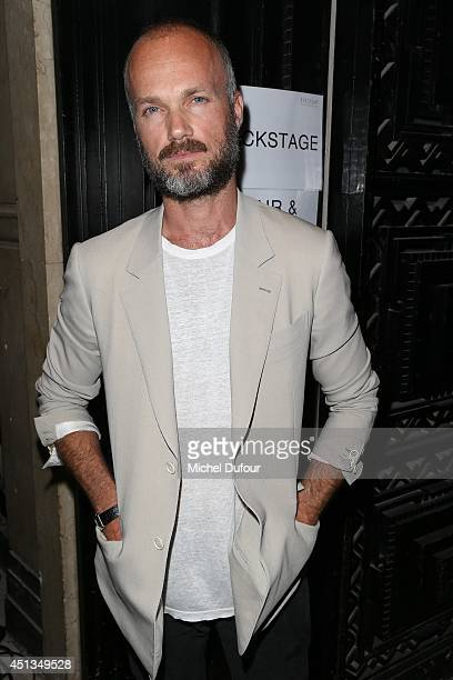 Designer Aldo Maria Camillo attends the Cerruti show as part of the Paris Fashion Week Menswear Spring/Summer 2015 on June 27 2014 in Paris France