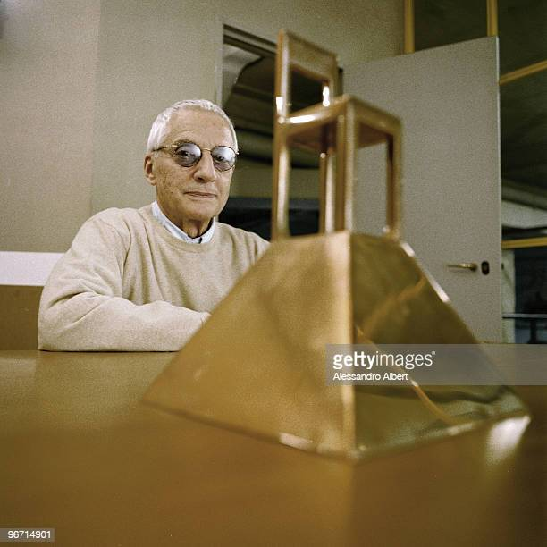 Designer Alessandro Mendini poses for a portrait shoot in Milan on November 20 2004 Photo by Alessandro Albert/Contour by Getty Images