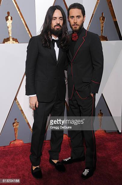 Designer Alessandro Michele and actor Jared Leto arrive at the 88th Annual Academy Awards at Hollywood Highland Center on February 28 2016 in...