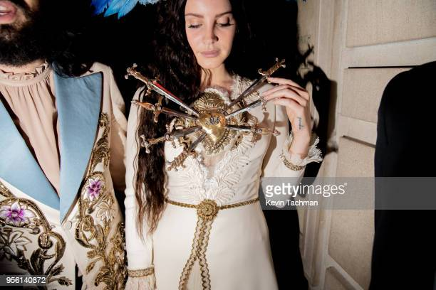 Designer Alessandro Michele and Lana del Ray attend the Heavenly Bodies Fashion The Catholic Imagination Costume Institute Gala at The Metropolitan...
