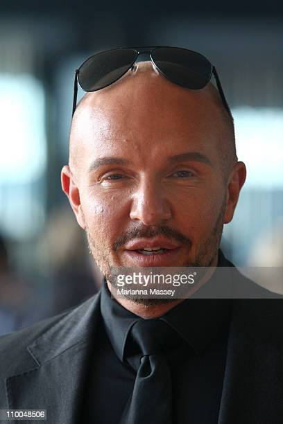 Designer Alex Perry arrives as part of the Fashion Full Stop Decades of Australian Fashion and Music show on day one of the 2011 L'Oreal Melbourne...