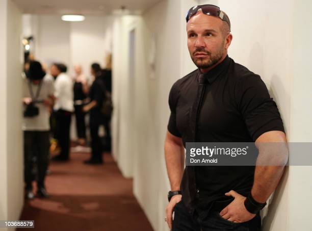Designer Alex Perry enjoys a moment of quiet contemplation backstage ahead of the Alex Perry catwalk show as part of Rosemount Sydney Fashion...