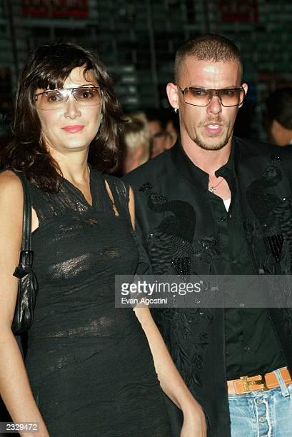 Designer Alexander McQueen and Annabelle Neilson arriving at the Alexander McQueen New York store opening on 14th Street in New York City September 5...