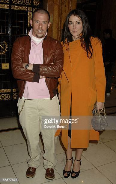 Designer Alexander McQueen and Annabelle Nielson attend the private VIP party thrown by model Helena Christensen in association with Swarovski and...