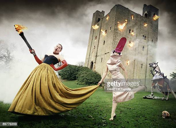 Designer Alexander McQueen and fashion stylist Isabella Blow in a portrait session for Vanity Fair Magazine Published Image