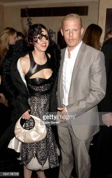Designer Alexander Mcqueen With Isabella Blow Tatler Dinner At Floriana In Beauchamp Place Hosted By Geordie Greig Saw A Great Mix Of People At The...