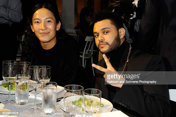 Designer Alexander Wang and Musician The Weeknd attend the WSJ Magazine 2016 Innovator Awards at Museum of Modern Art on November 2 2016 in New York...
