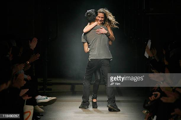 Designer Alexander Wang and stylist Erin Wasson on the runway during Alexander Wang Fall 2008 during MercedesBenz Fashion Week at Eyebeam on February...