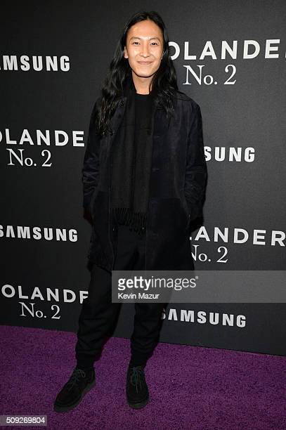 Designer Alexander Wang attends the 'Zoolander 2' World Premiere at Alice Tully Hall on February 9 2016 in New York City