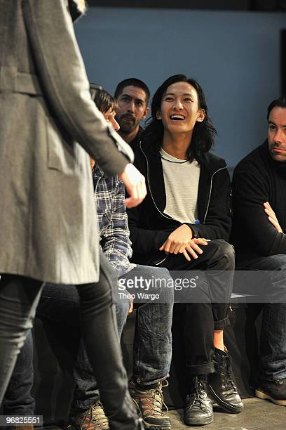 Designer Alexander Wang during Alexander Wang Fall 2010 during MercedesBenz Fashion Week at Pier 94 on February 13 2010 in New York City