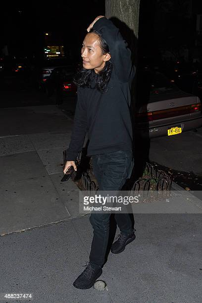 Designer Alexander Wang is seen on the Upper East Side on September 14 2015 in New York City
