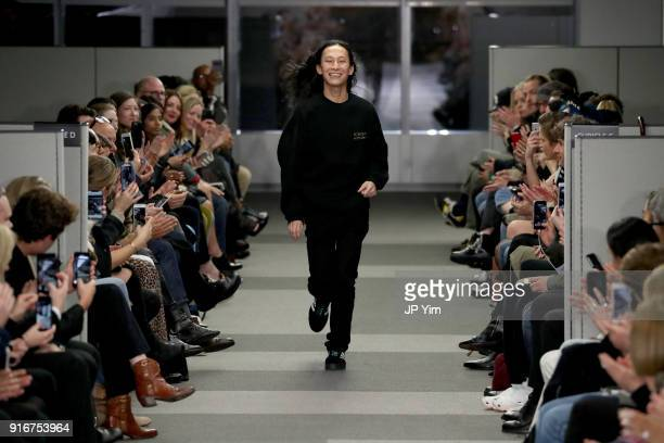 Designer Alexander Wang walks the runway at Alexander Wang during New York Fashion Week at 4 Times Square on February 10 2018 in New York City