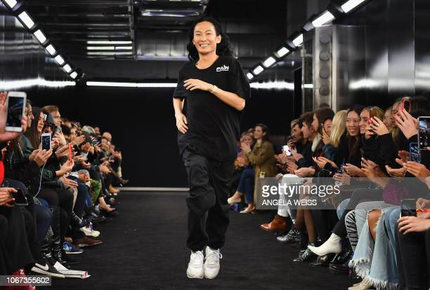 Designer Alexander Wang walks the runway at the Alexander Wang Fall 2019 show at One Hanson Place on December 1 2018 in New York City