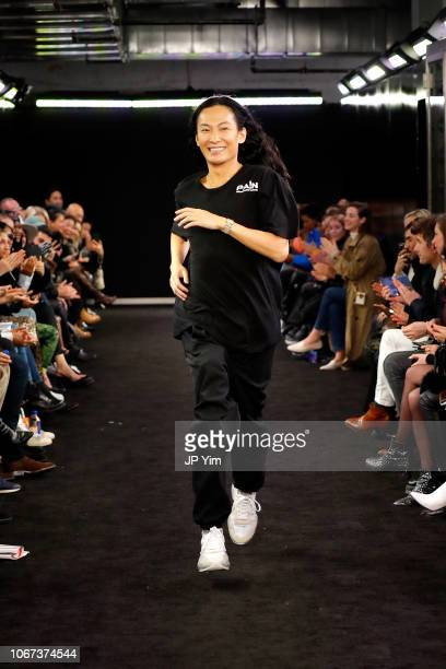 Designer Alexander Wang walks the runway during the Alexander Wang Fall 2019 show at One Hanson Place on December 1 2018 in New York City