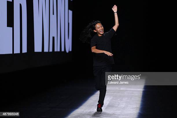 Designer Alexander Wang walks the runway during the Alexander Wang Spring/Summer 2016 fashion show at Pier 94 on September 12 2015 in New York City