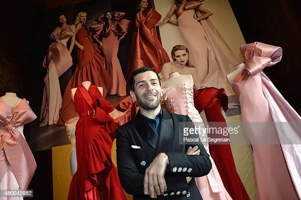 Designer Alexis Mabille attends a Presentation of his work as part of Paris Fashion Week Haute Couture Fall/Winter 2015/2016> on July 8, 2015 in...