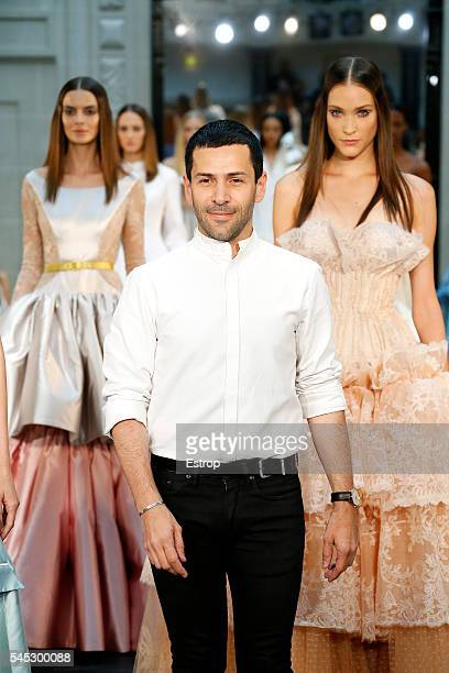 Designer Alexis Mabille walks the runway during the Alexis Mabille Haute Couture Fall/Winter 20162017 show as part of Paris Fashion Week on July 5...