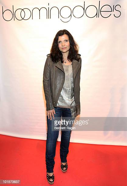 Designer Ali Hewson founder of EDUN attends the EDUN PreFall Menswear Collection launch at Bloomingdale's on June 2 2010 in New York City