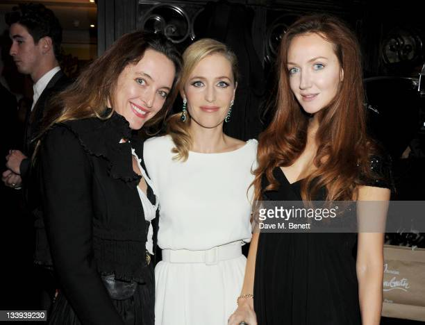 Designer Alice Temperley actress Gillian Anderson and Olivia Grant attend Film InStyle in association with Land Rover celebrating InStyle Magazine's...
