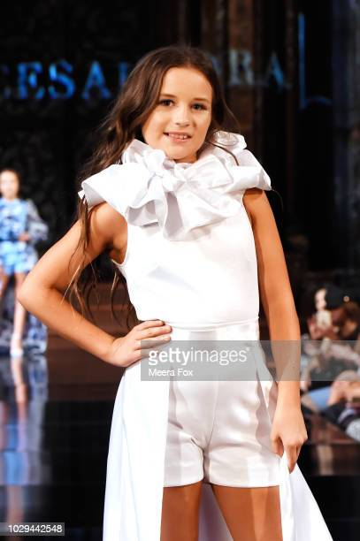 Designer Alycesaundra Lyerly walks the runway during the ALYCESAUNDRAL show At New York Fashion Week Powered By Art Hearts Fashion at The Angel...