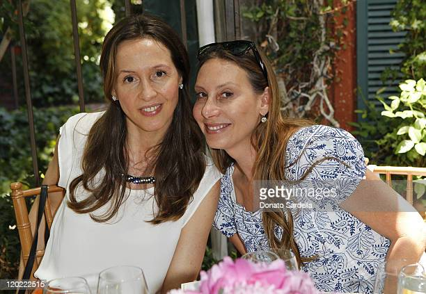 Designer Amalia Spinardi and Jacqui Getty attends Jo De Mer Lunch Hosted By Alexandra von Furstenberg at Il Cielo on June 30, 2011 in Beverly Hills,...
