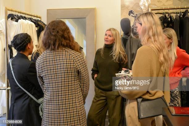 Designer Amanda Wakeley at her Presentation during London Fashion Week February 2019 on February 15 2019 in London England