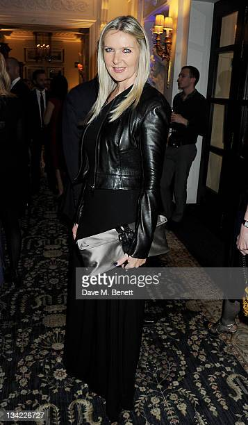 Designer Amanda Wakeley attends a drinks reception at the British Fashion Awards 2011 held at The Savoy Hotel on November 28 2011 in London England