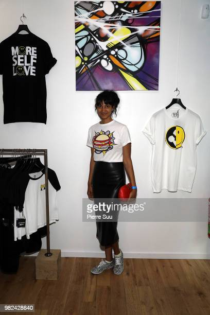 Designer Amrita attends the Boy Meets Girl Black Label X Smiley Original as part of Paris Fashion Week on June 23 2018 in Paris France