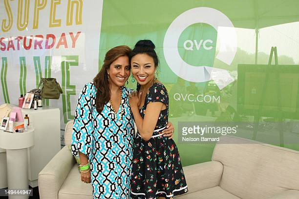 Designer Amrita Singh and QVC Red Carpet Host Jeannie Mai attend QVC Presents Super Saturday LIVE on July 28 2012 in Water Mill New York