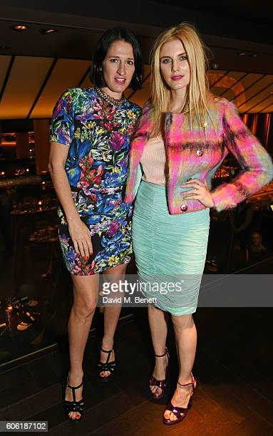 Designer Amy Molyneaux and Ashley James attend the PPQ postshow after party during London Fashion Week Spring/Summer collections 2017 at Quaglino's...