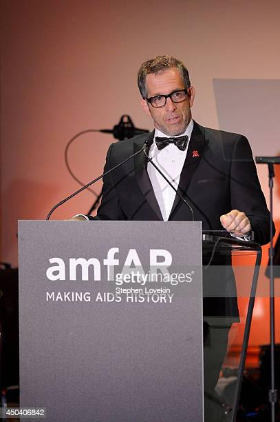 designer and amfAR Chairman Kenneth Cole speaks onstage at the amfAR Inspiration Gala New York 2014 at The Plaza Hotel on June 10 2014 in New York...