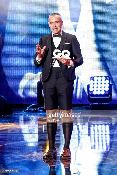 Designer and award winner Thom Browne live on stage at the GQ Men of the year Award 2017 show at Komische Oper on November 9, 2017 in Berlin, Germany.