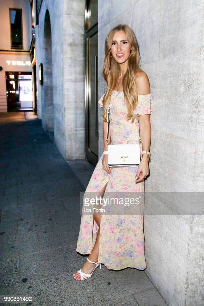 Designer and blogger Leslie Huhn during the Bunte New Faces Night at Grace Hotel Zoo on July 2 2018 in Berlin Germany