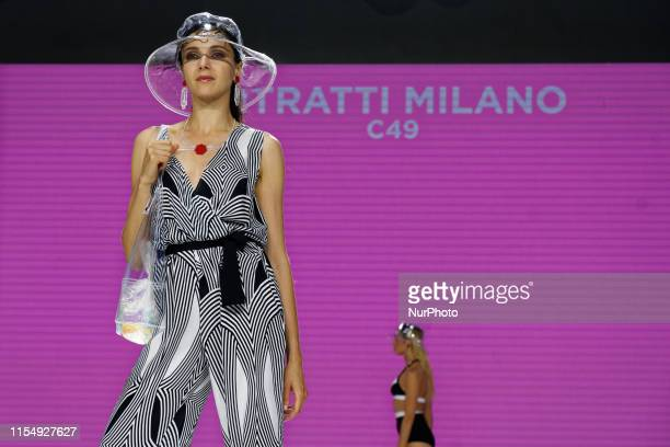 Designer and Brand RITRATTI MILANO shows her sunwear during the Fashion Show at Unique By Mode City the International Trade Show of Lingerie Swimwear...