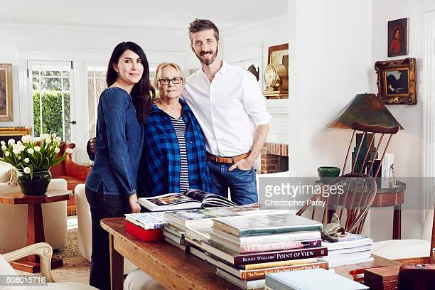 Designer and design shop owner Brenda Antin is photographed in her home with Christine Ehrlich for Domaine Home on January 13 2015 in Los Angeles...