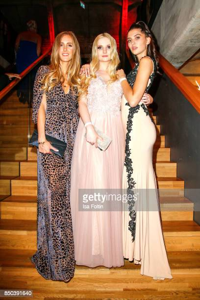Designer and Fashion Blogger Leslie Huhn model Anna Hiltrop and model Fata Hasanovic attend the Dreamball 2017 at Westhafen Event Convention Center...