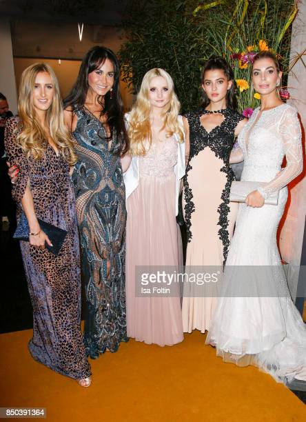 Designer and Fashion Blogger Leslie Huhn Rafaella Slyusareva model Anna Hiltrop model Fata Hasanovic and model Annika Gassner attend the Dreamball...