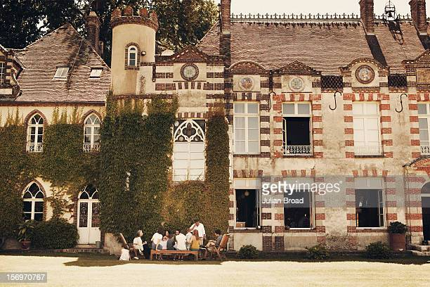 Designer and founder of APC Jean Touitou is photographed at his chateau in BreuilBenoit with family for Bon Appetit magazine on June 26 2011 near...
