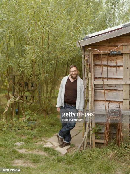 Designer and founder of Full Grown Gavin Munro is photographed at the companies plantation in the Peak District for Onyx magazine on August 22 2018...