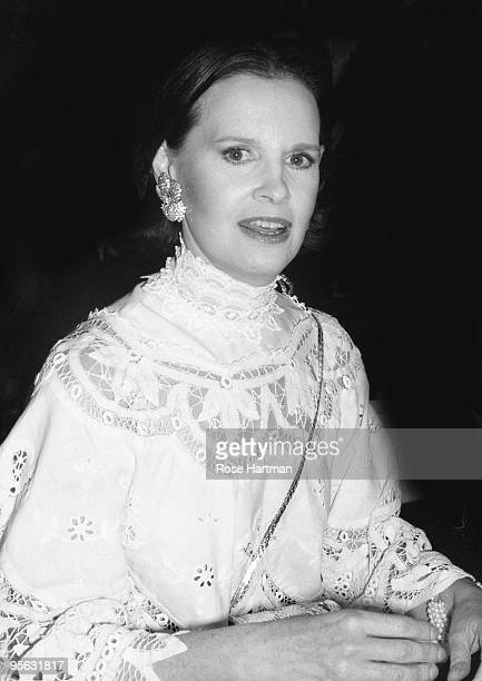 Designer and heiress Gloria Vanderbilt at her fashion show at the Plaza Hotel in 1979 in New York City, New York.