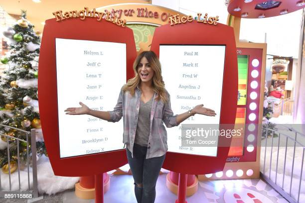 Designer and home renovation star Alison Victoria visits HGTV Santa HQ At FlatIron Crossing on December 9 2017 in Broomfield Colorado