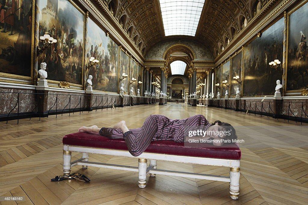 Designer and model Ines de la Fressange is photographed for Paris Match on June 23, 2014 in Versailles, France.