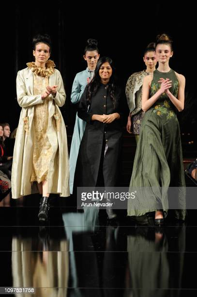 Designer and models walk the runway for Nisha Singh at New York Fashion Week Powered By Art Hearts Fashion NYFW at The Angel Orensanz Foundation on...