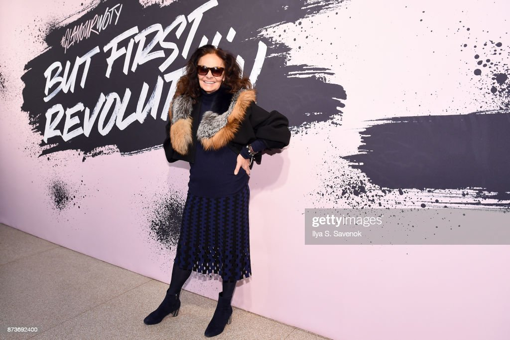 Designer and Woman of the Year 2005 Diane von Furstenberg poses during Glamour Celebrates 2017 Women Of The Year Live Summit at Brooklyn Museum on November 13, 2017 in New York City.